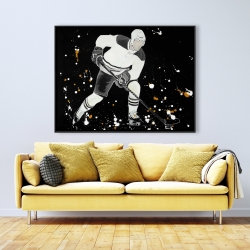 Framed 36 x 48 - Hockey player in action