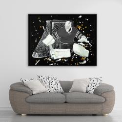 Framed 36 x 48 - Goalkeeper hockey