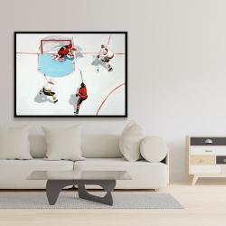 Framed 36 x 48 - Eventful hockey game