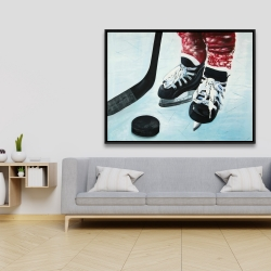 Framed 36 x 48 - Young hockey player