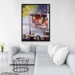 Framed 36 x 48 - Outdoor restaurant by a nice day