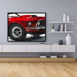 Framed 36 x 48 - Classic red car