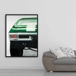 Framed 36 x 48 - Classic dark green car