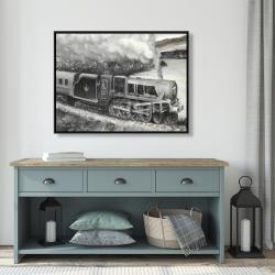 Framed 36 x 48 - Vintage passenger locomotive