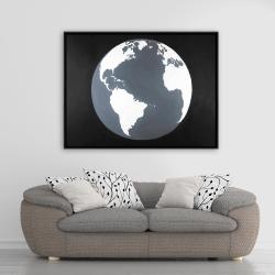 Framed 36 x 48 - Earth satellite view