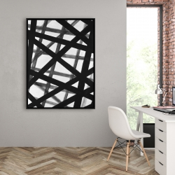 Framed 36 x 48 - Abstract bold lines