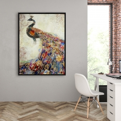 Framed 36 x 48 - Majestic peacock