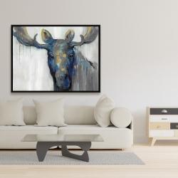 Framed 36 x 48 - Blue moose