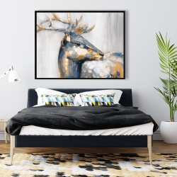 Framed 36 x 48 - Golden deer