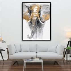 Framed 36 x 48 - Golden elephant