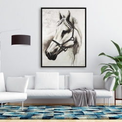 Framed 36 x 48 - Flicka the white horse