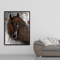 Framed 36 x 48 - Proud brown horse