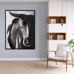 Framed 36 x 48 - Bull head closeup