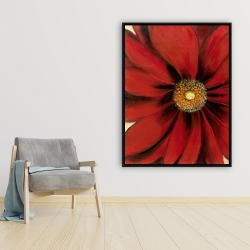 Framed 36 x 48 - Red daisy