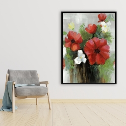 Framed 36 x 48 - Abstract wild flowers bundle