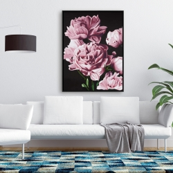 Framed 36 x 48 - Pink peonies