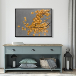 Framed 36 x 48 - Golden wattle plant with pugg ball flowers