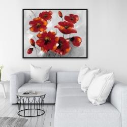 Framed 36 x 48 - Anemone flowers