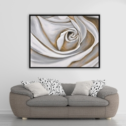 Framed 36 x 48 - White rose closeup