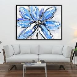 Framed 36 x 48 - Blue flower