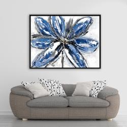 Framed 36 x 48 - Blue petal