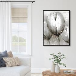 Framed 36 x 48 - Three white tulips