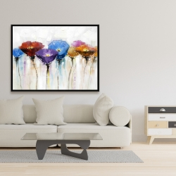 Framed 36 x 48 - Colorful flowers