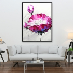 Framed 36 x 48 - Fuchsia wild flower