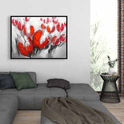 Framed 36 x 48 - Red tulips