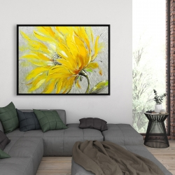 Framed 36 x 48 - Yellow flower