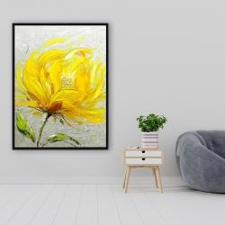 Framed 36 x 48 - Yellow fluffy flower