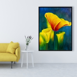 Framed 36 x 48 - Beautiful colorful flowers