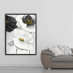 Framed 36 x 48 - Assorted white flowers