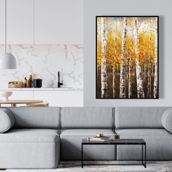 Framed 36 x 48 - Birches by sunny day