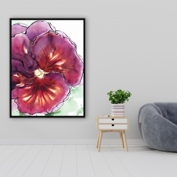 Framed 36 x 48 - Blossoming orchid with wavy petals
