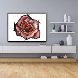 Framed 36 x 48 - Watercolor rose