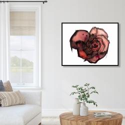 Framed 36 x 48 - Dark rose