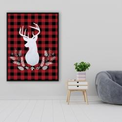 Framed 36 x 48 - Deer plaid