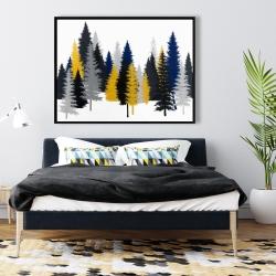 Framed 36 x 48 - Golden fir
