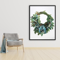 Framed 36 x 48 - Christmas wreath