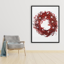 Framed 36 x 48 - Red berry wreath