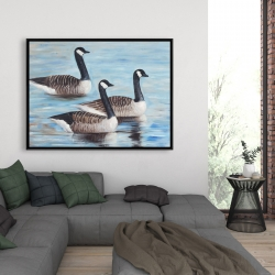Framed 36 x 48 - Canada geese in water