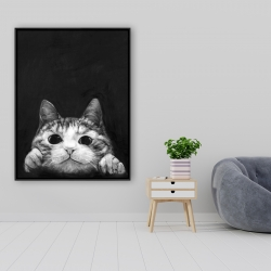 Framed 36 x 48 - Curious cat