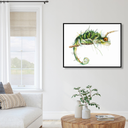 Framed 36 x 48 - Chameleon on the lookout