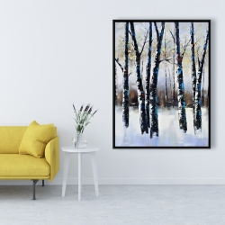 Framed 36 x 48 - Frosted trees