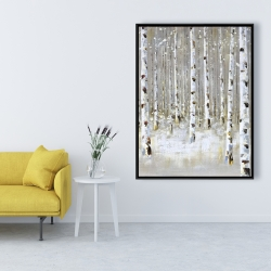 Framed 36 x 48 - Birch forest by winter