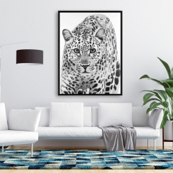 Framed 36 x 48 - Leopard ready to attack