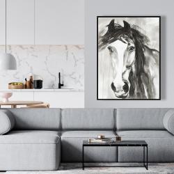 Framed 36 x 48 - Beautiful wild horse
