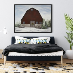Framed 36 x 48 - It's winter on the farm