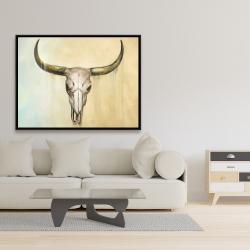 Framed 36 x 48 - Cow skull